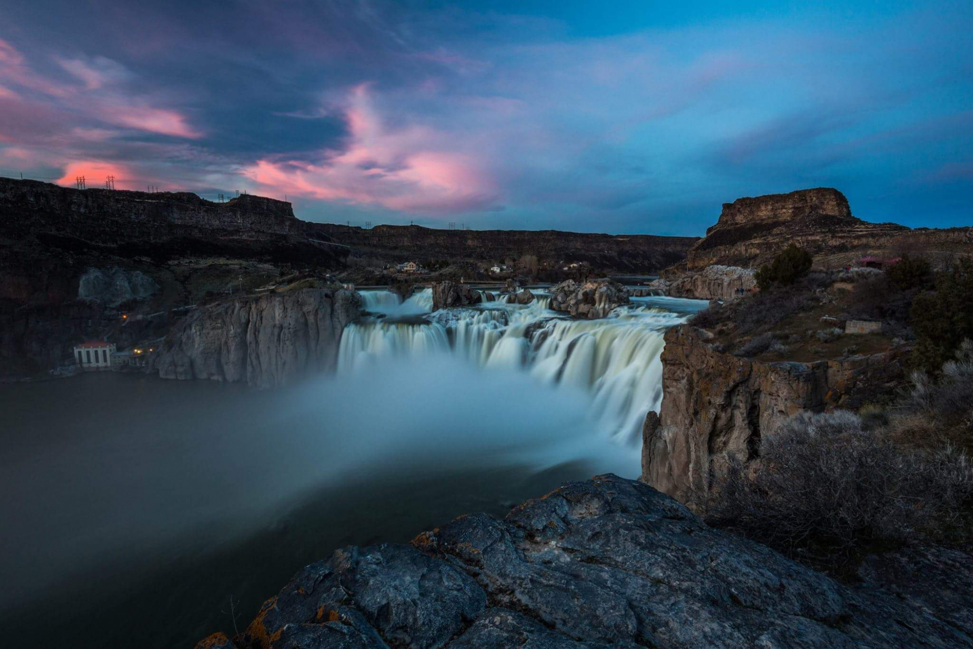 Shoshone Falls in Blue