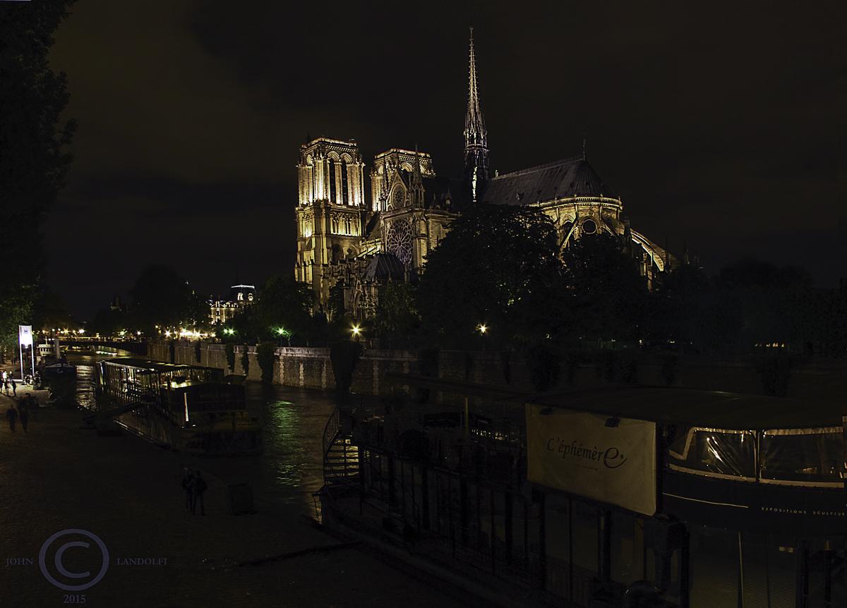 Notre Dame, 11pm, Paris