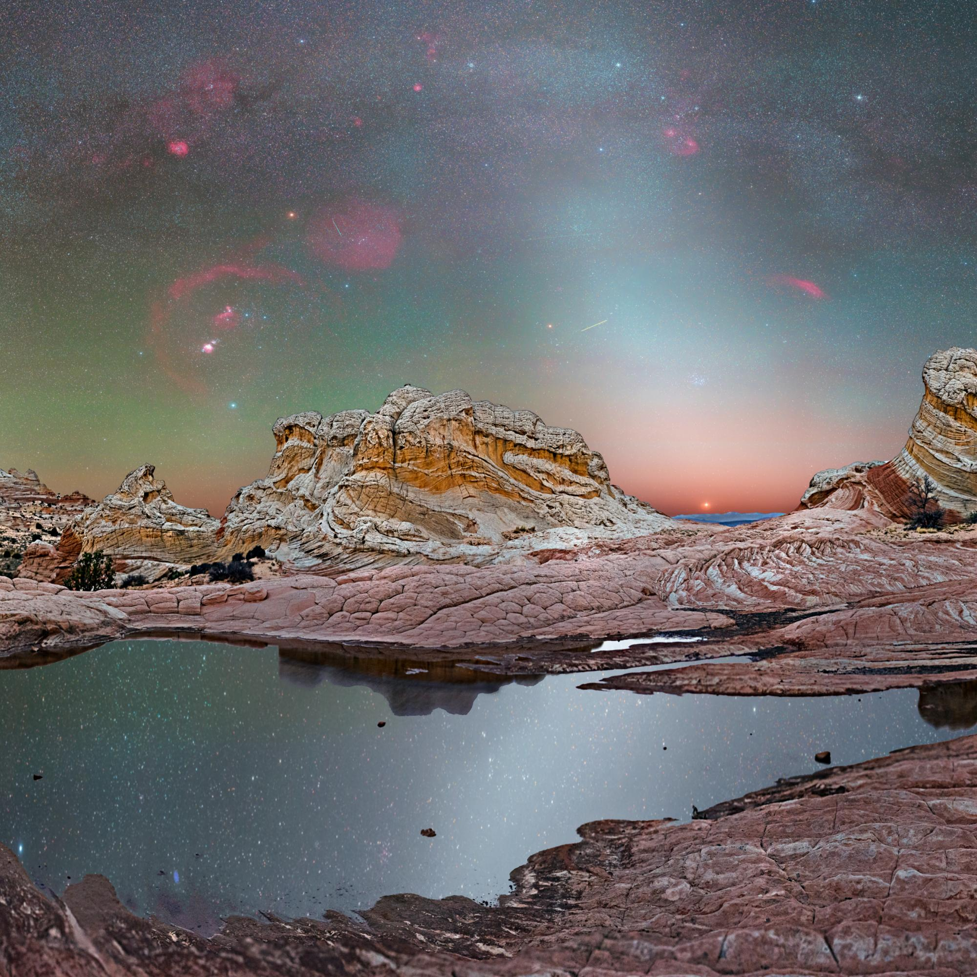 White Pocket Arizona with the Zodiacal Light