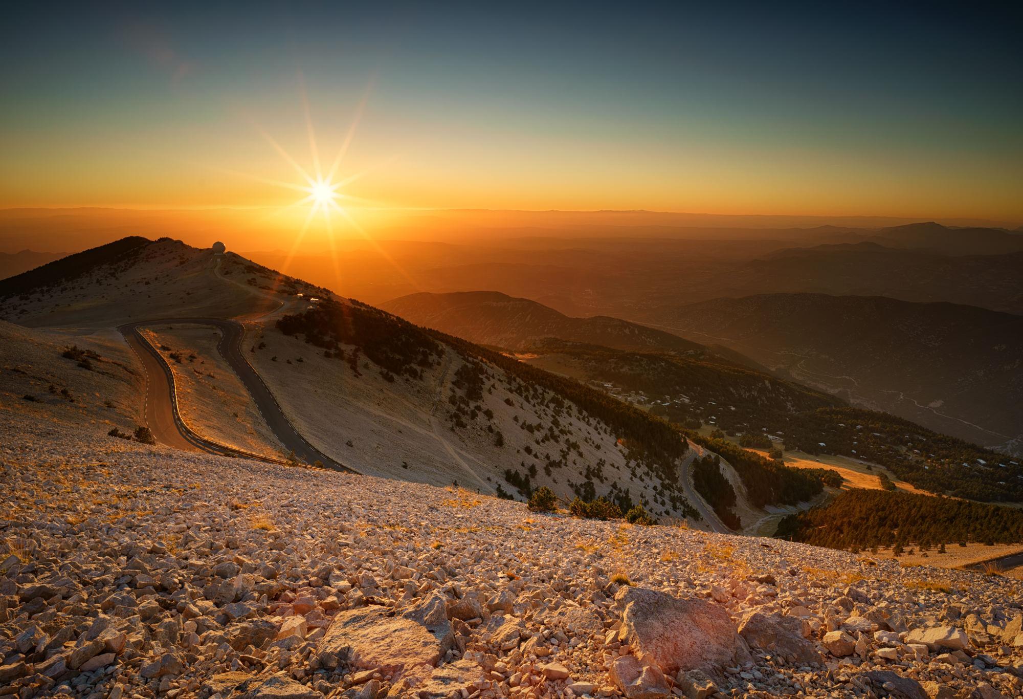 Sunset at Mt Ventoux