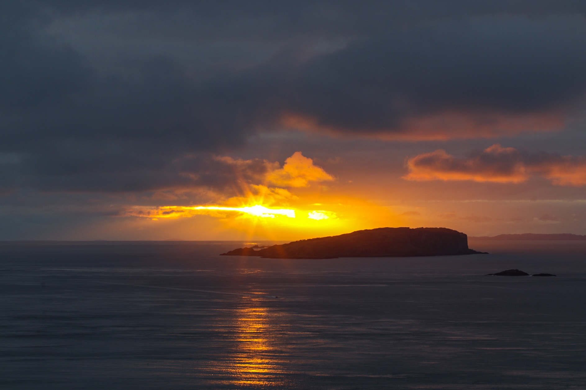 Sunset over the Insh Isle