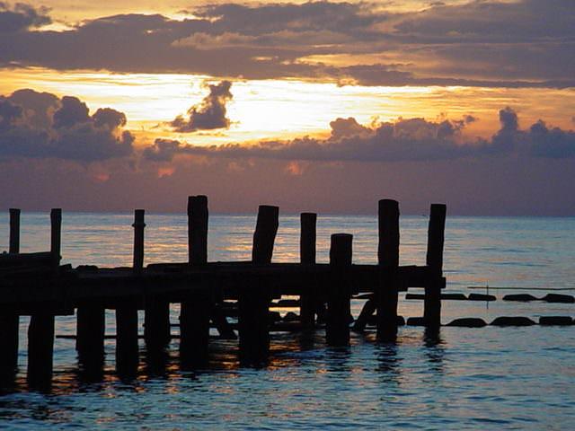 DSC09805SunsetPier - Sunset in Cozumel, Mexico