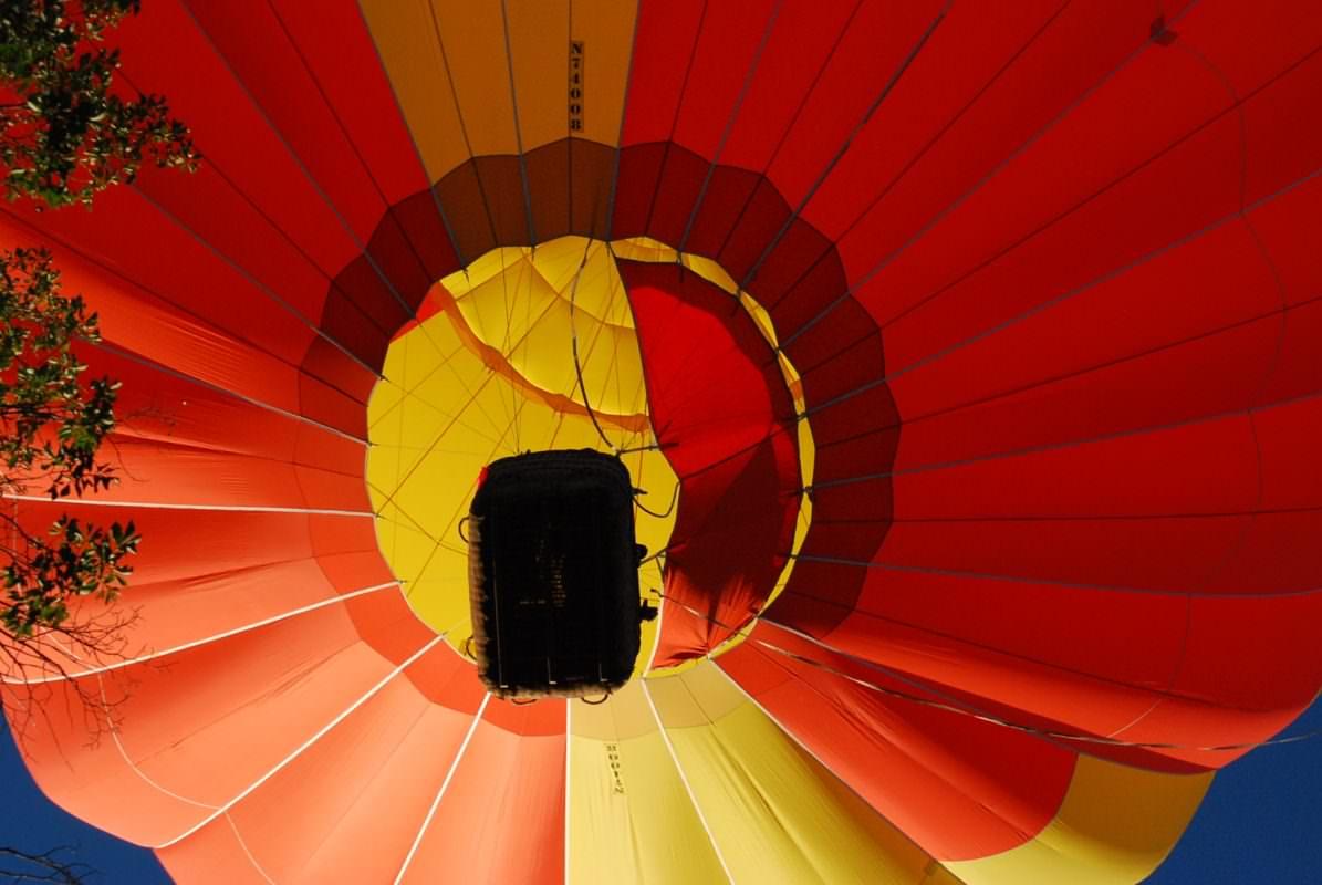 Orange & Yellow Balloon Overhead