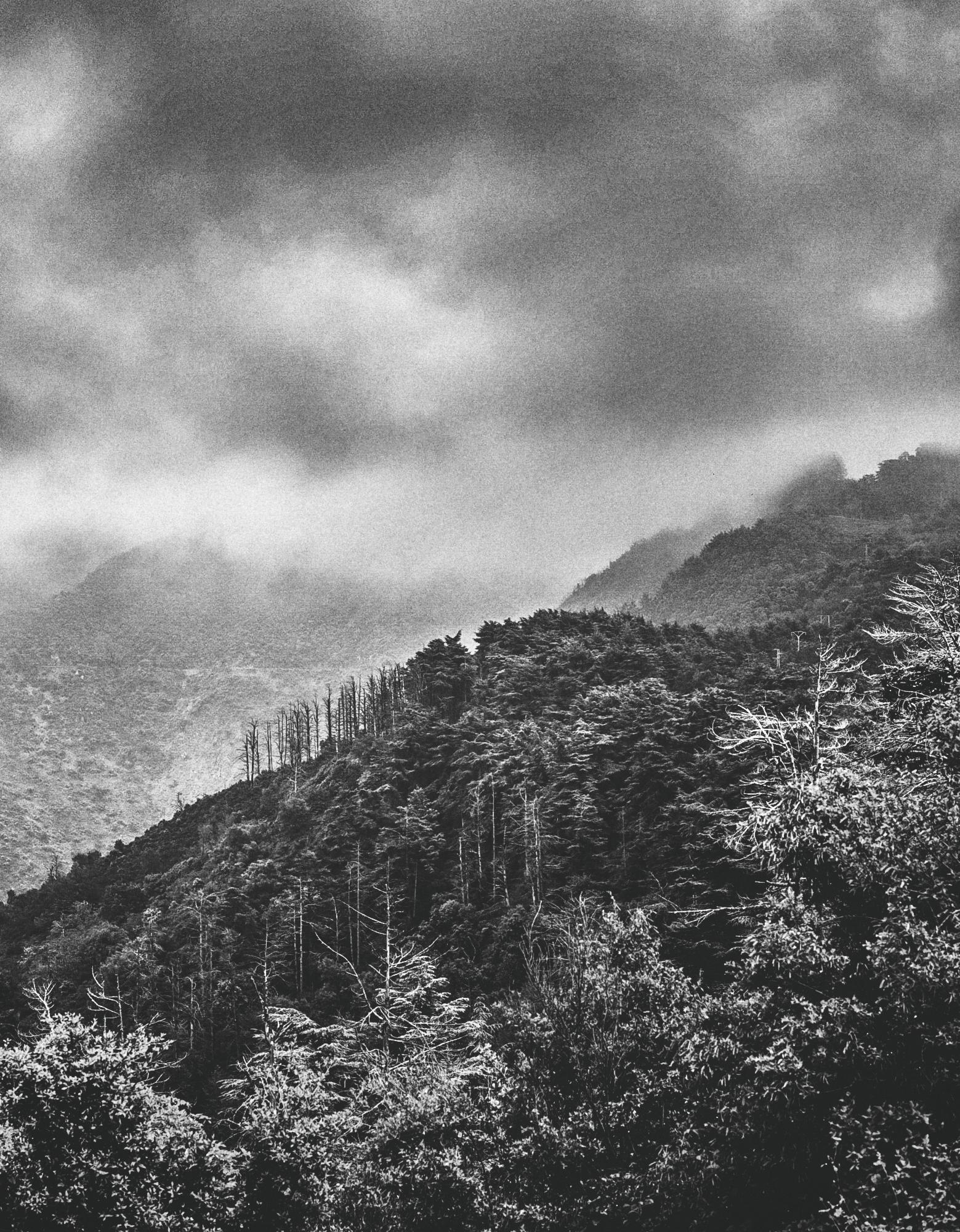 chrea mountains with black & whitei