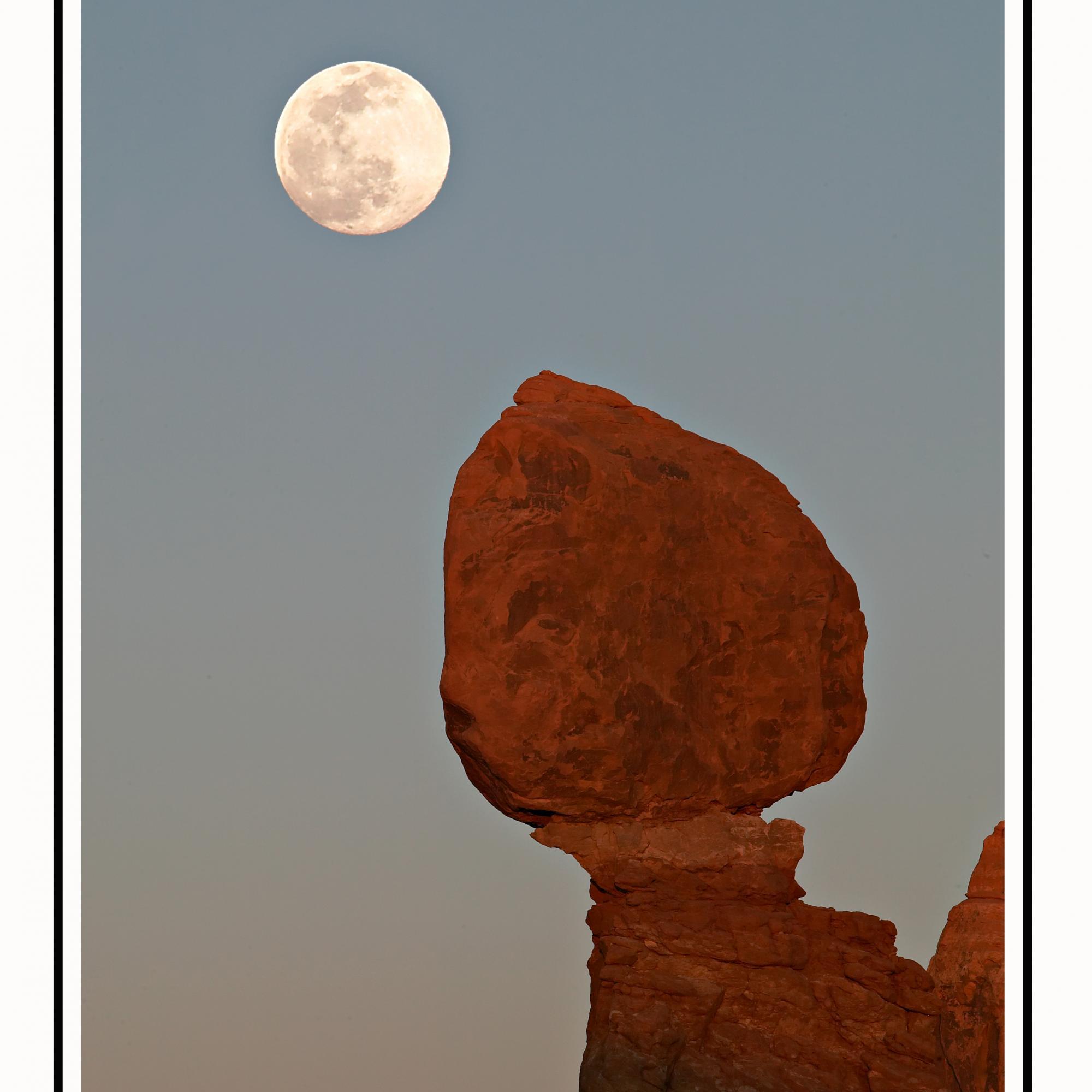 Full Moon Above Balancing Rock