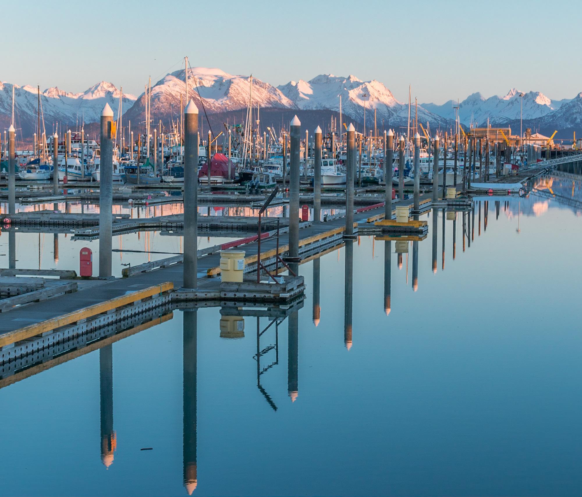 Harbor Sunset Pilings