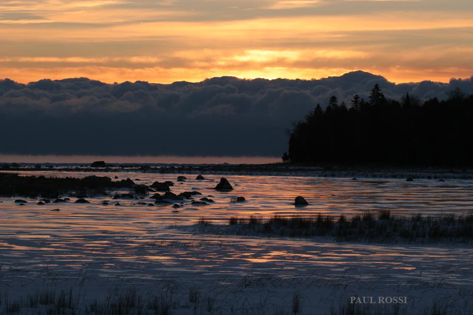 Winter Sunrise Beavertail Cove