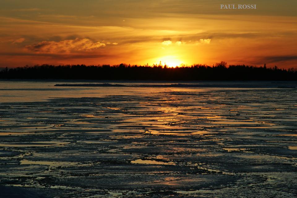 Lake Huron Winter Sunset 2