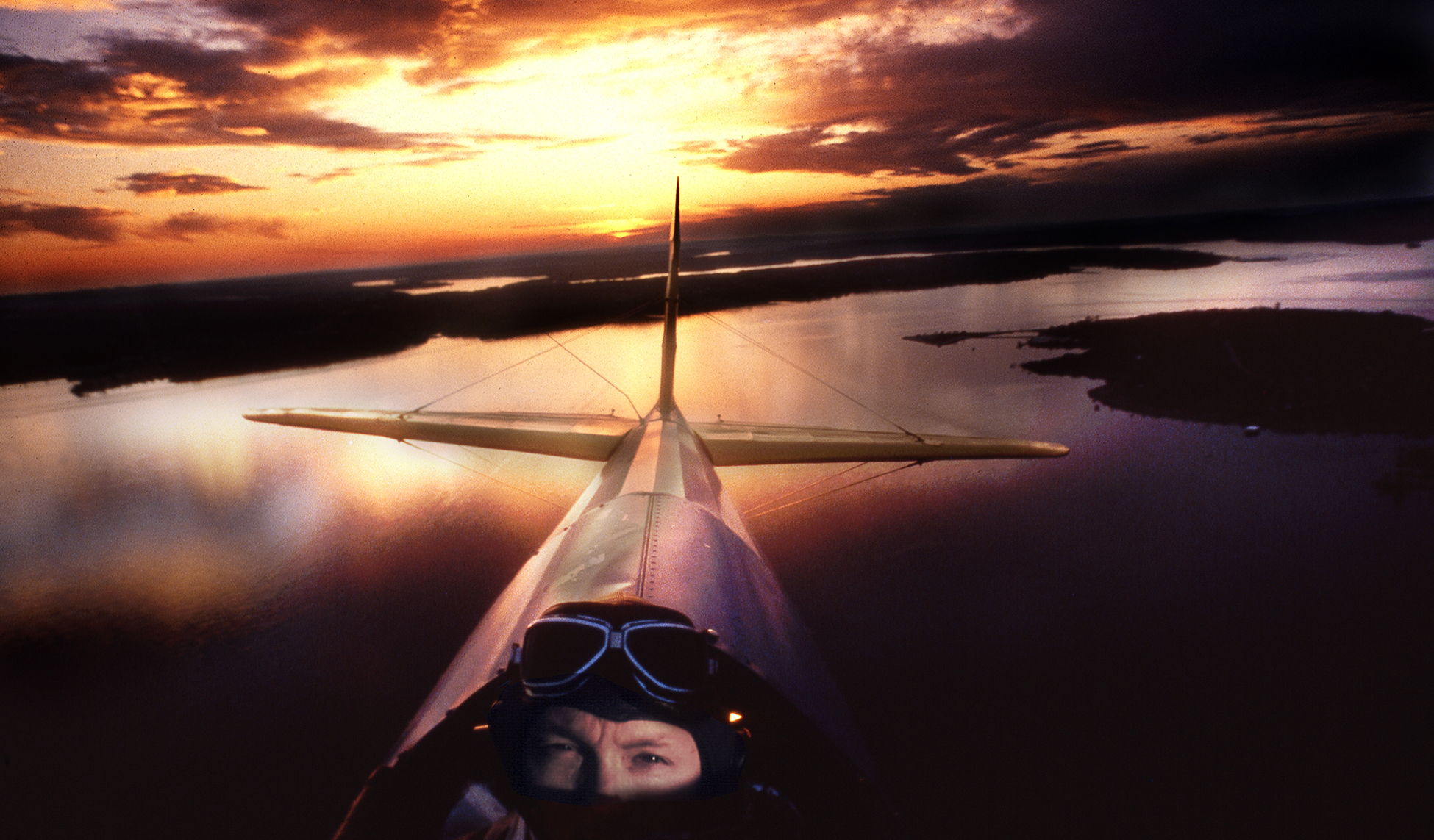Bi Plane Sunset