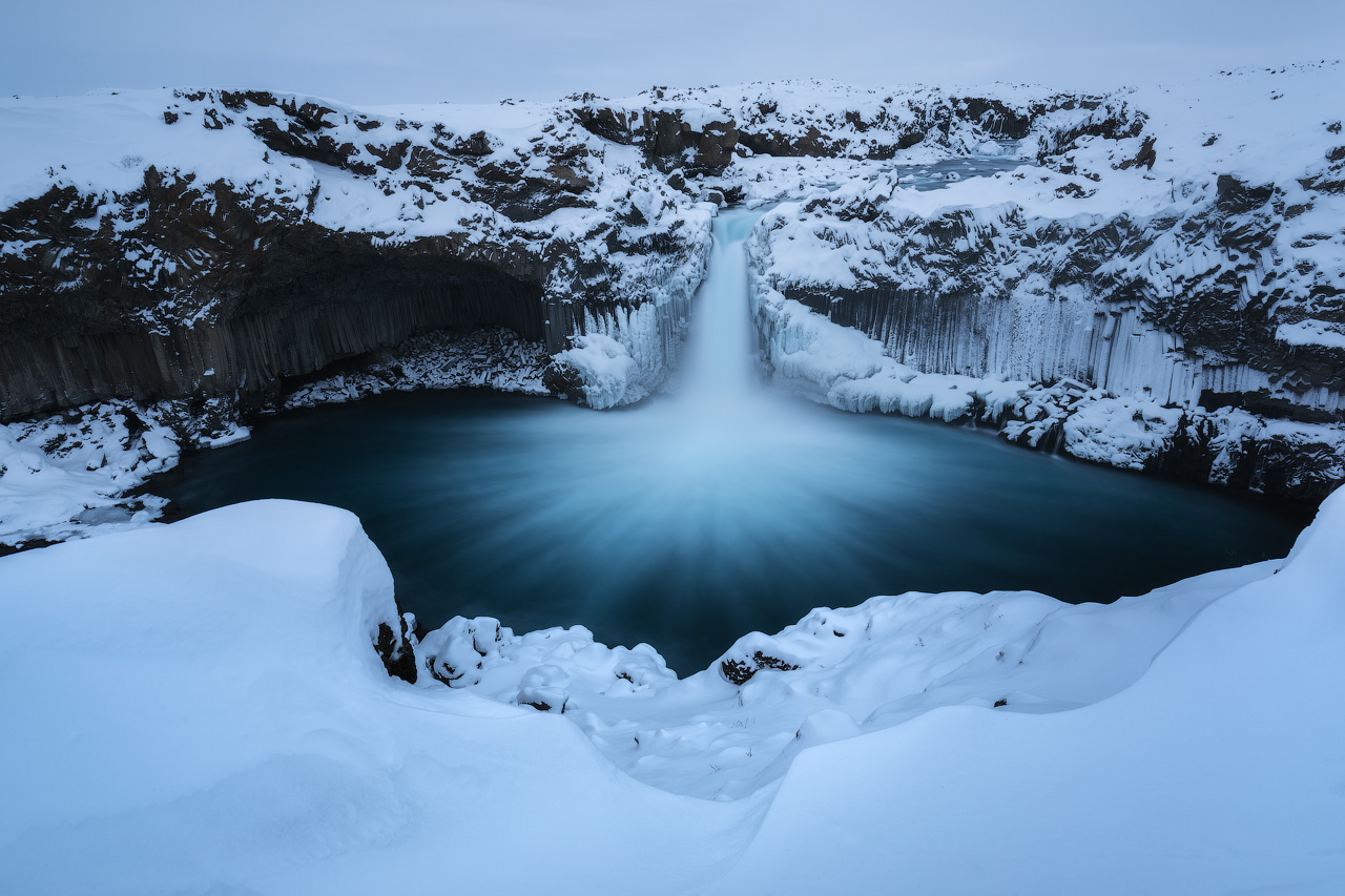 Frozen Aldeyjarfoss