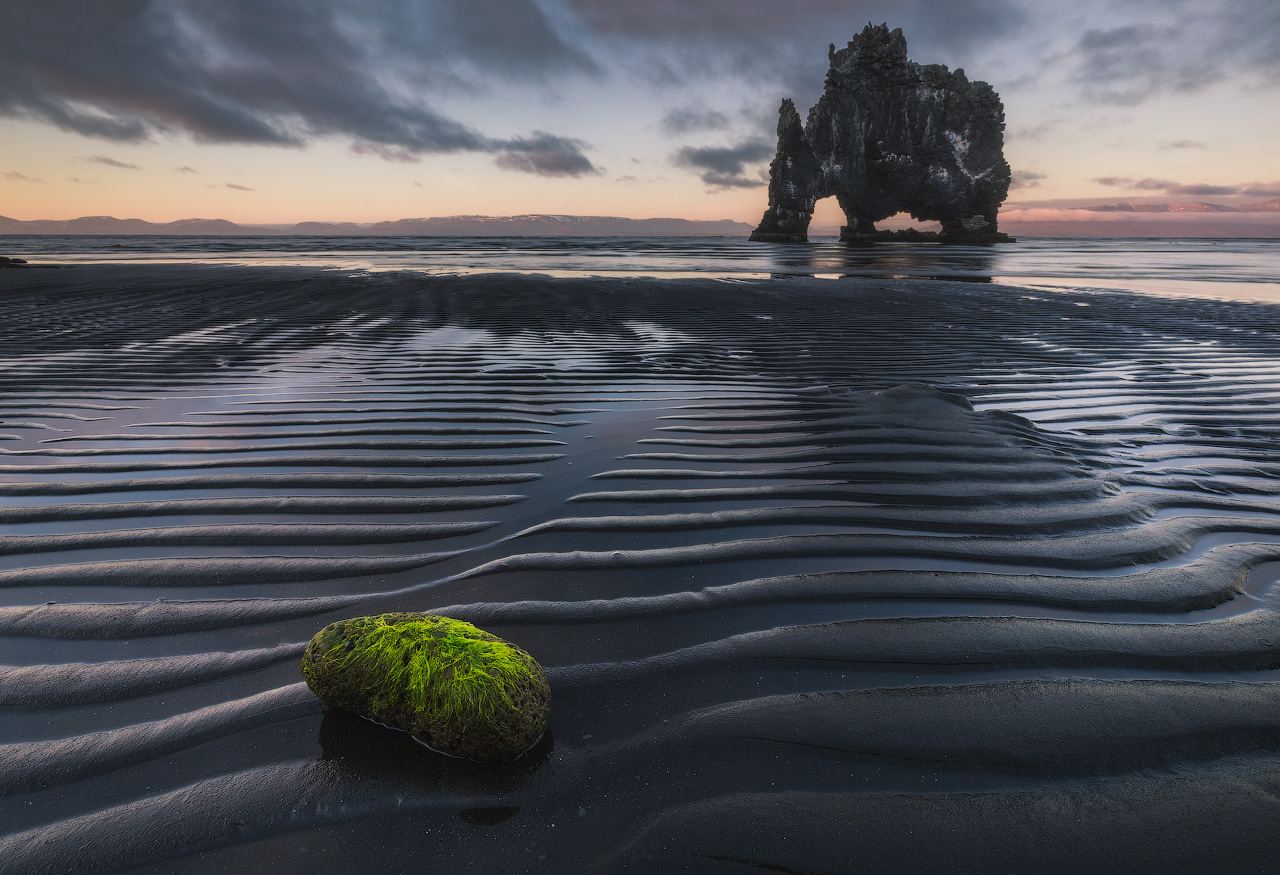Black Sand at Hvitserkur