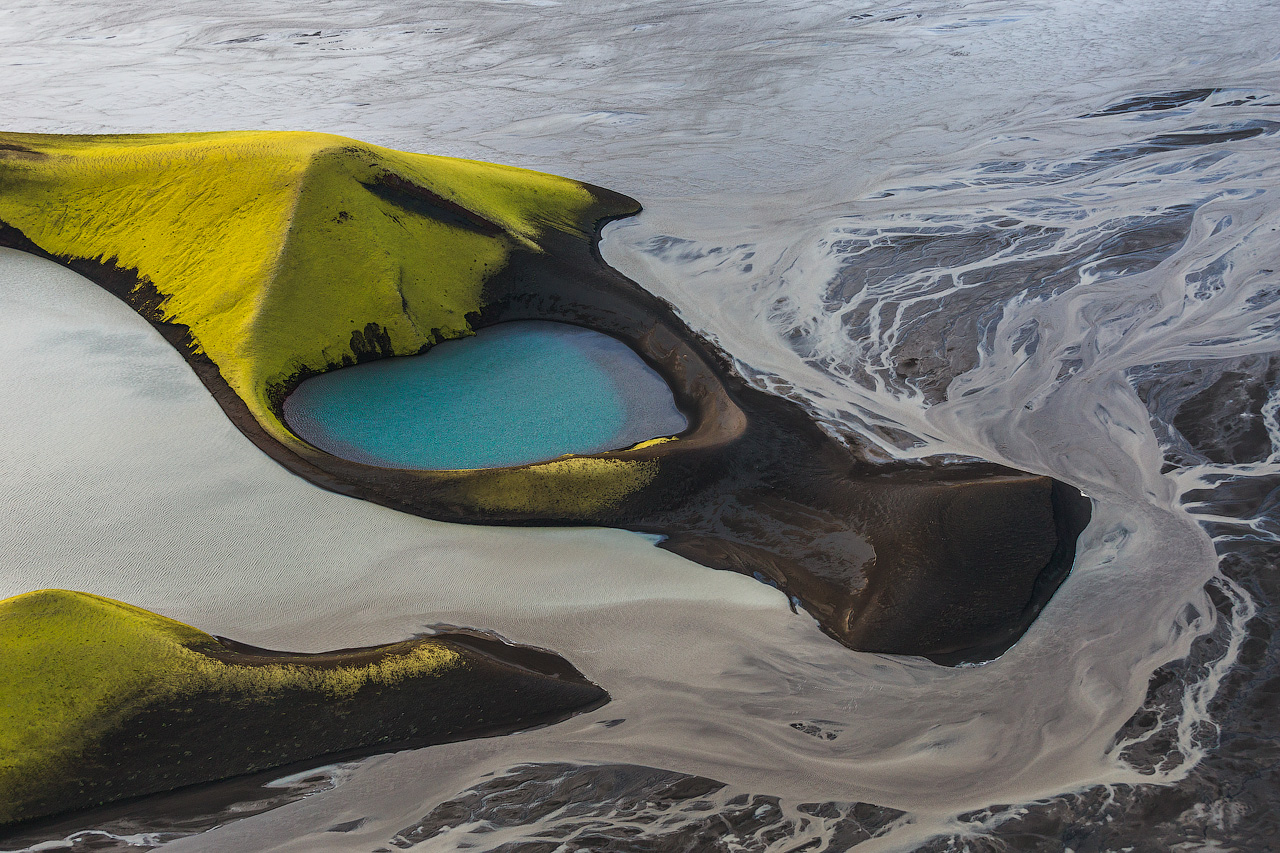 Aerial View of the Icelandic Highlands