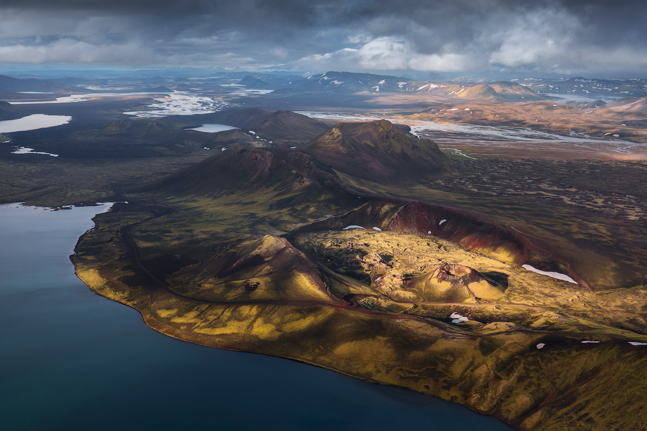 Soaring Over the Icelandic Highlands