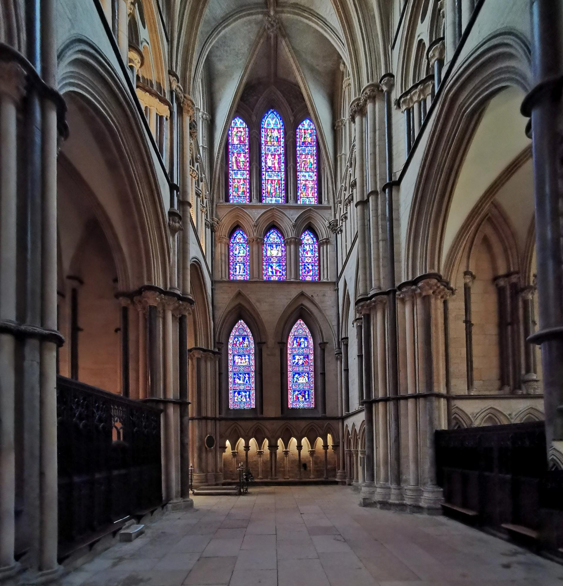Lincoln cathedral West transept