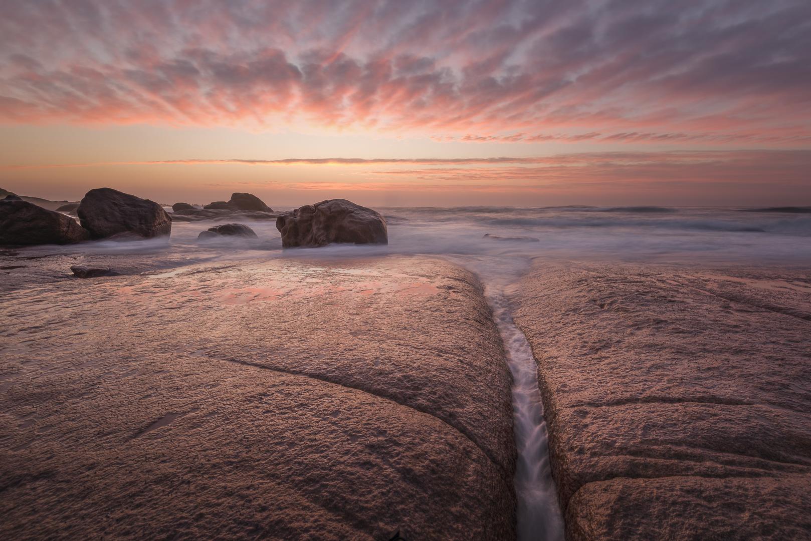 Shimmering rocks