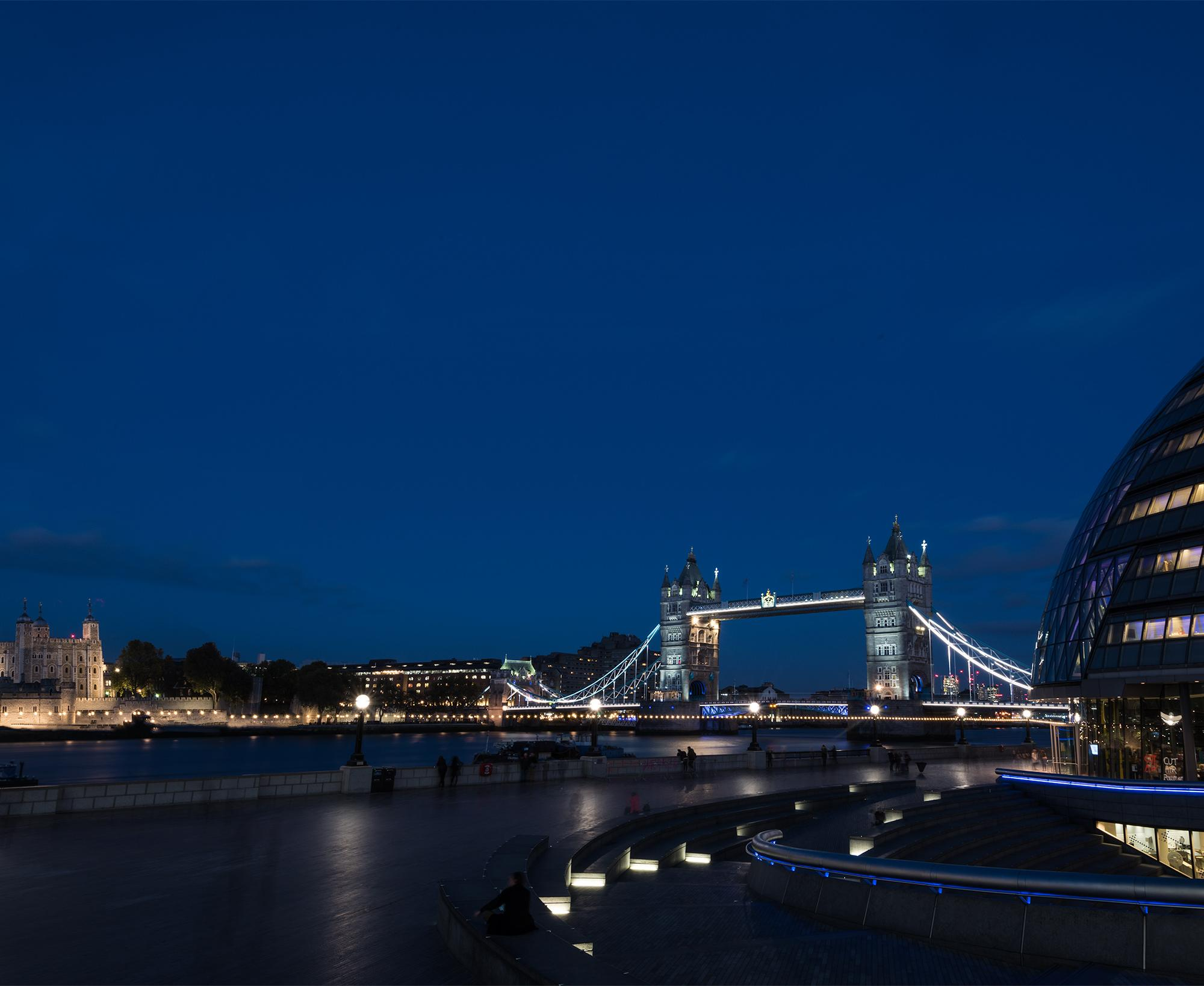 Tower Bridge from City Hall, Southbank, London.