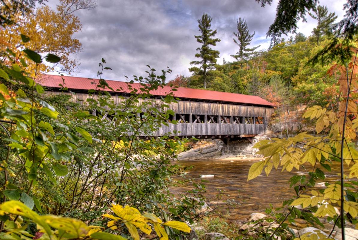 Albany Covered Bridge,  Kancamangus Hwy, White Mtns, NH