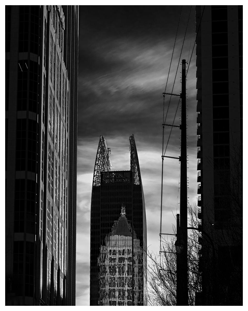 towering reflection