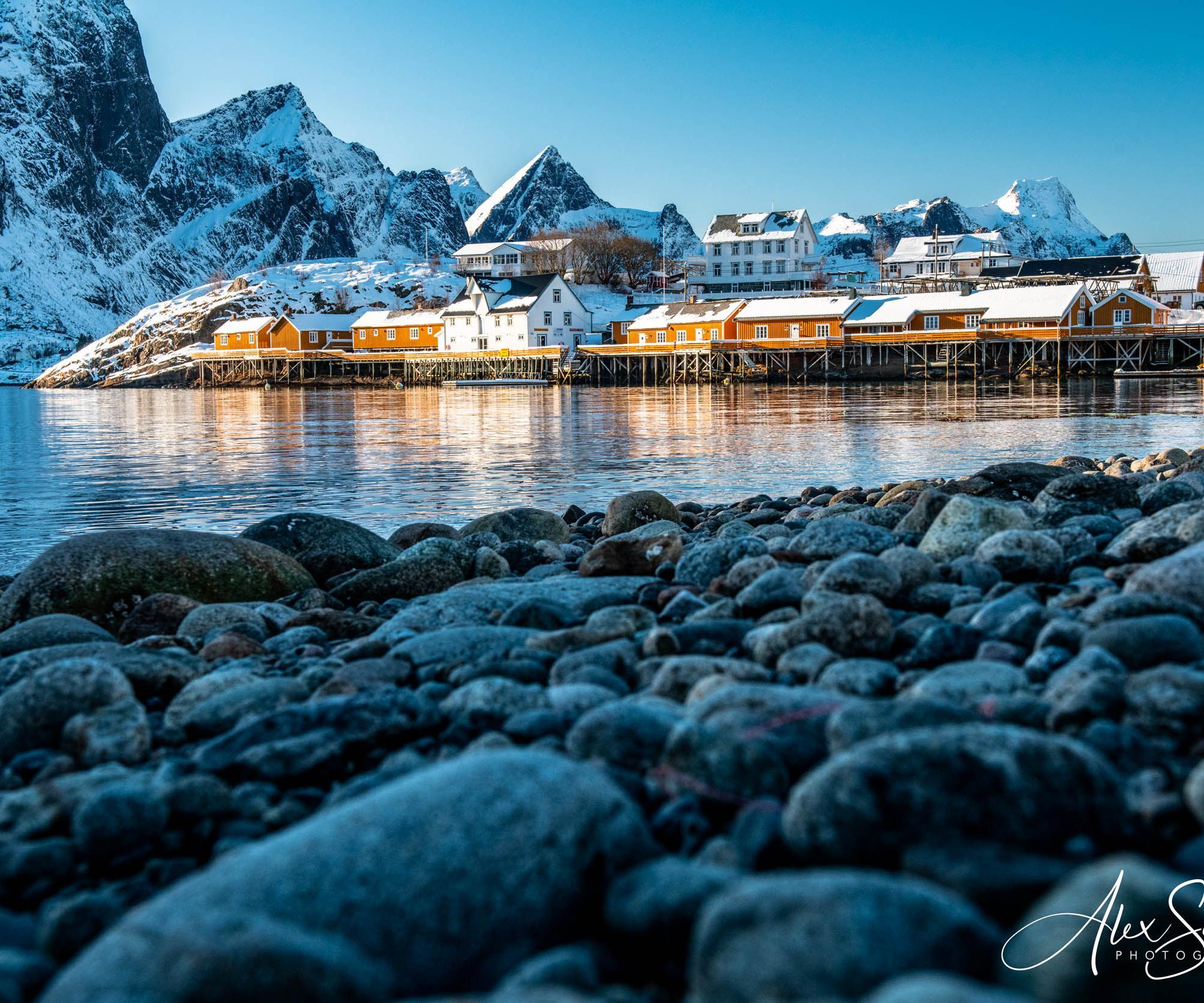 Small fishing village north of Reine, Norway
