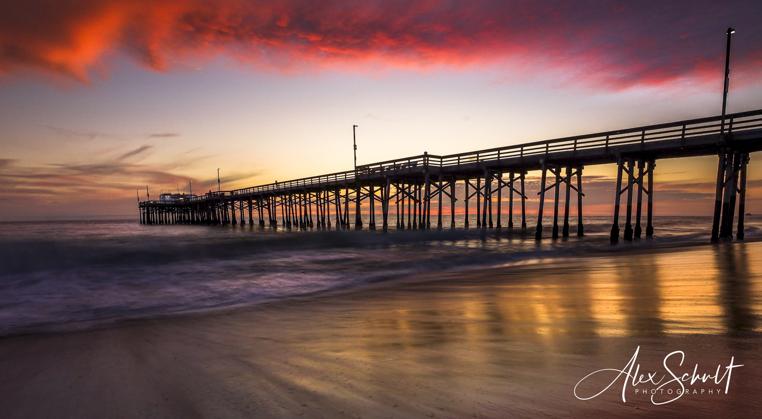 Balboa Beach Pier Sunset