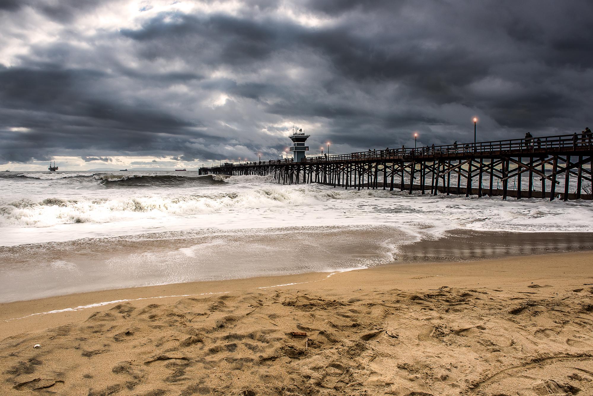 Seal Beach Pier Storm 2