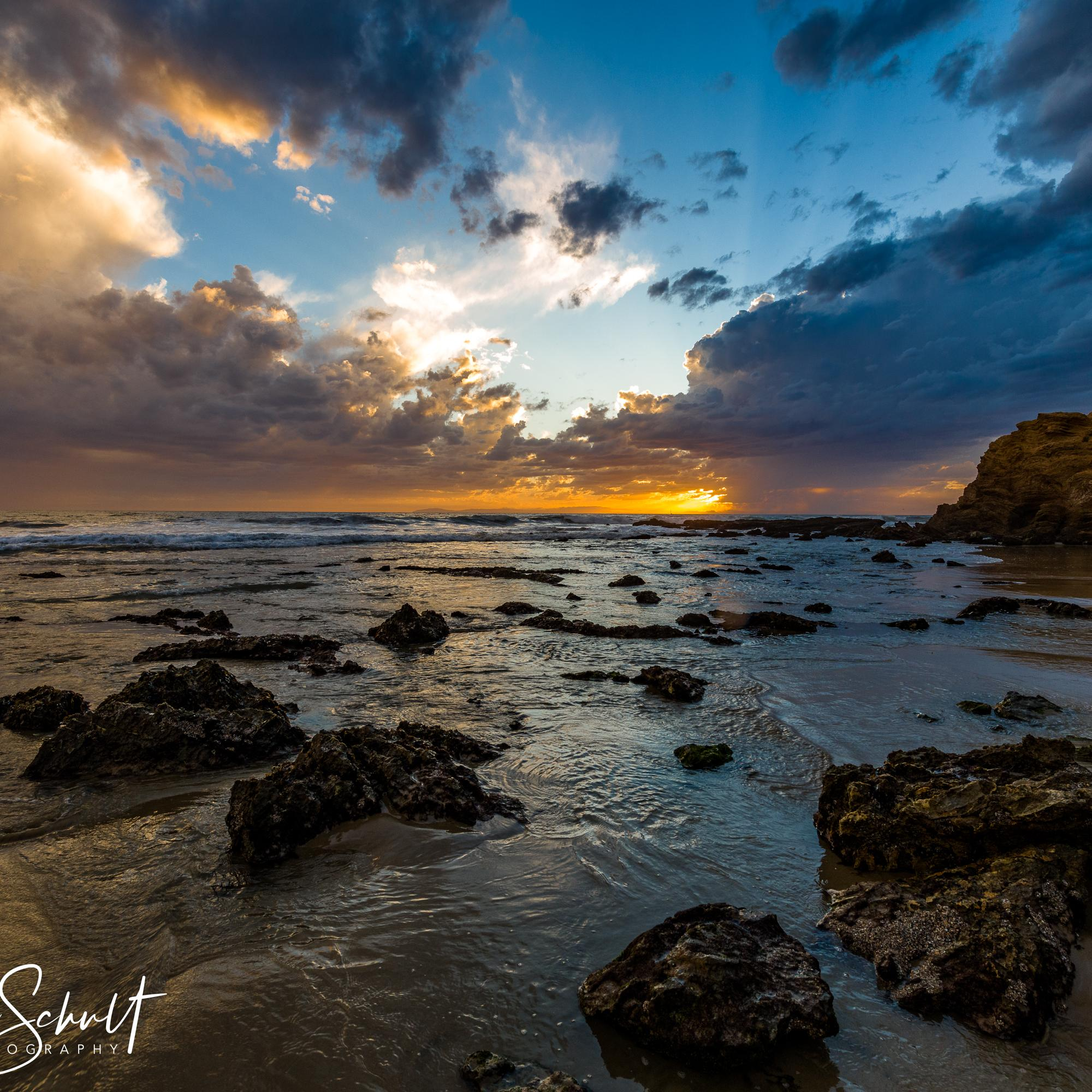 Crystal Cove Beach, CA - Sunset before the storm