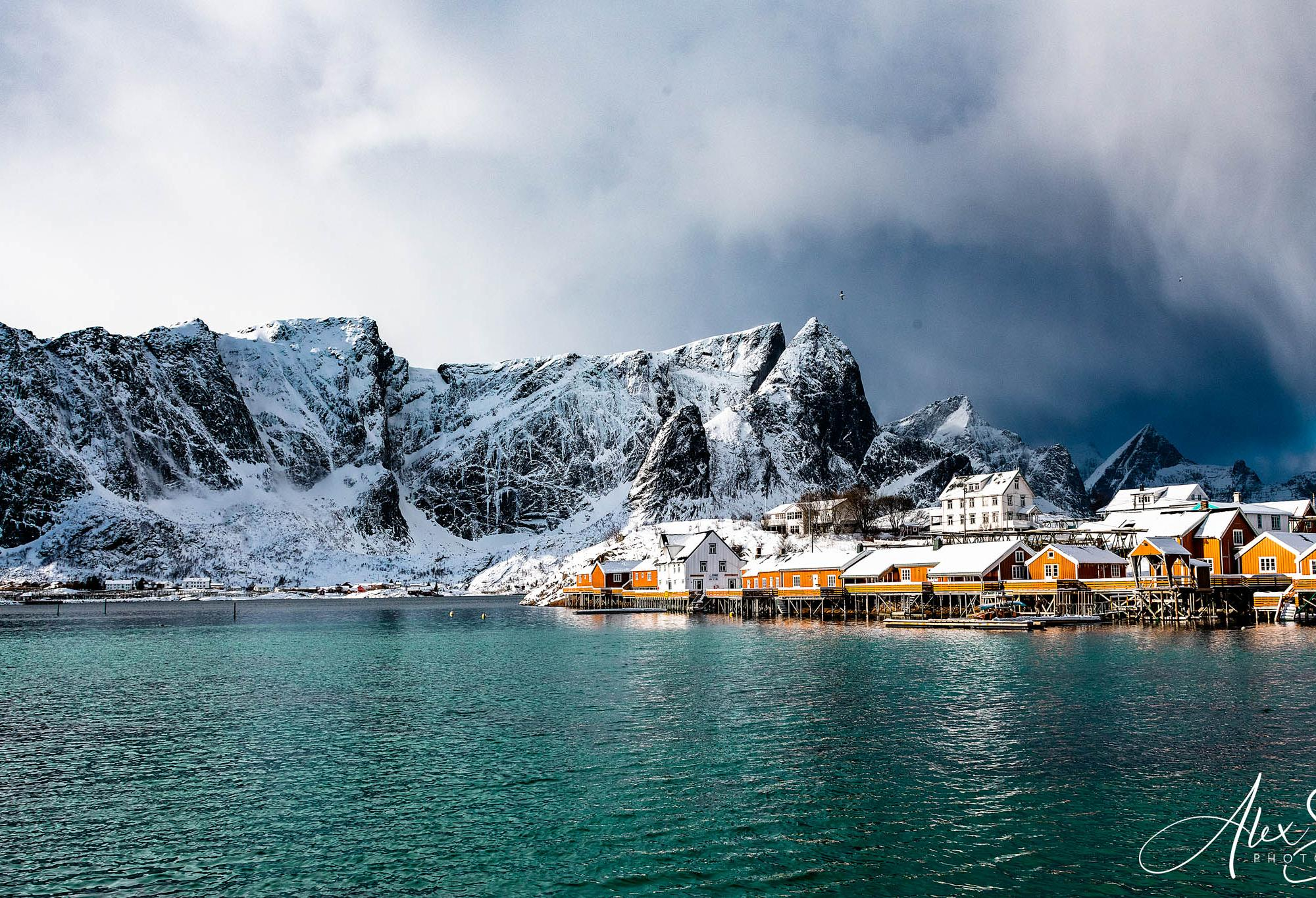 Storm coming to Reine, Norway