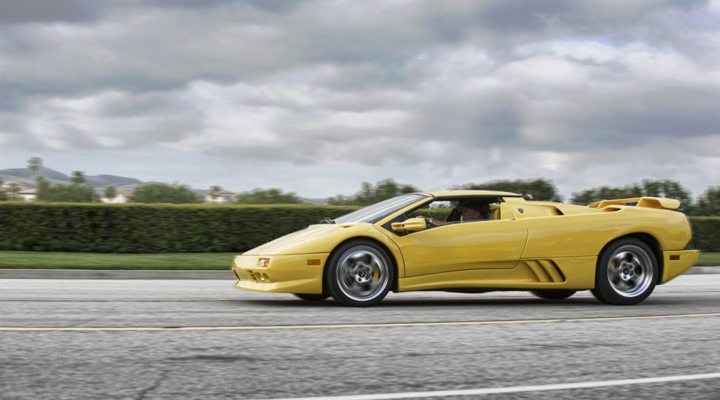 Yellow Lamborghini Diablo