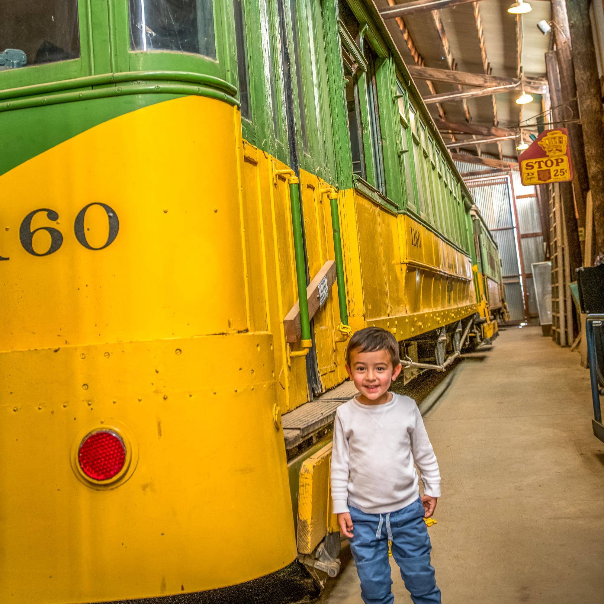 Caleb at Train Museum