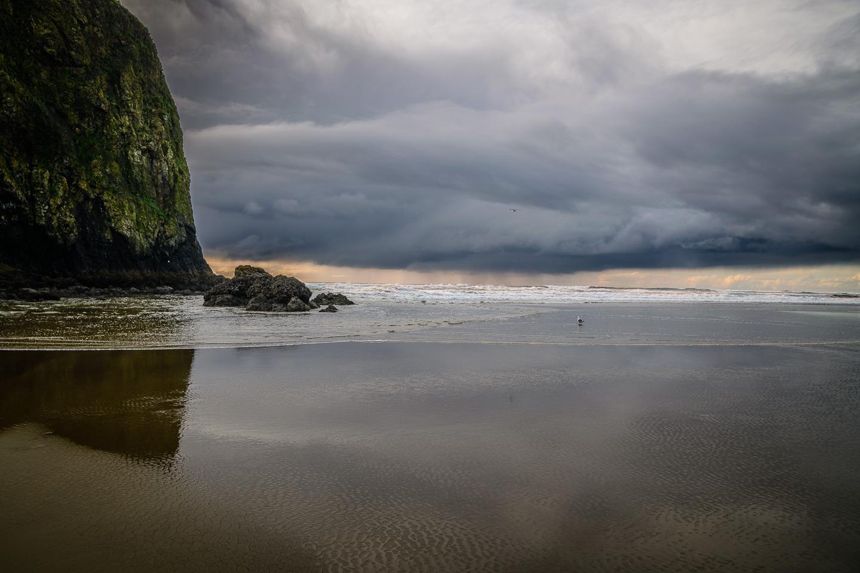 Storm Off Haystack Rock