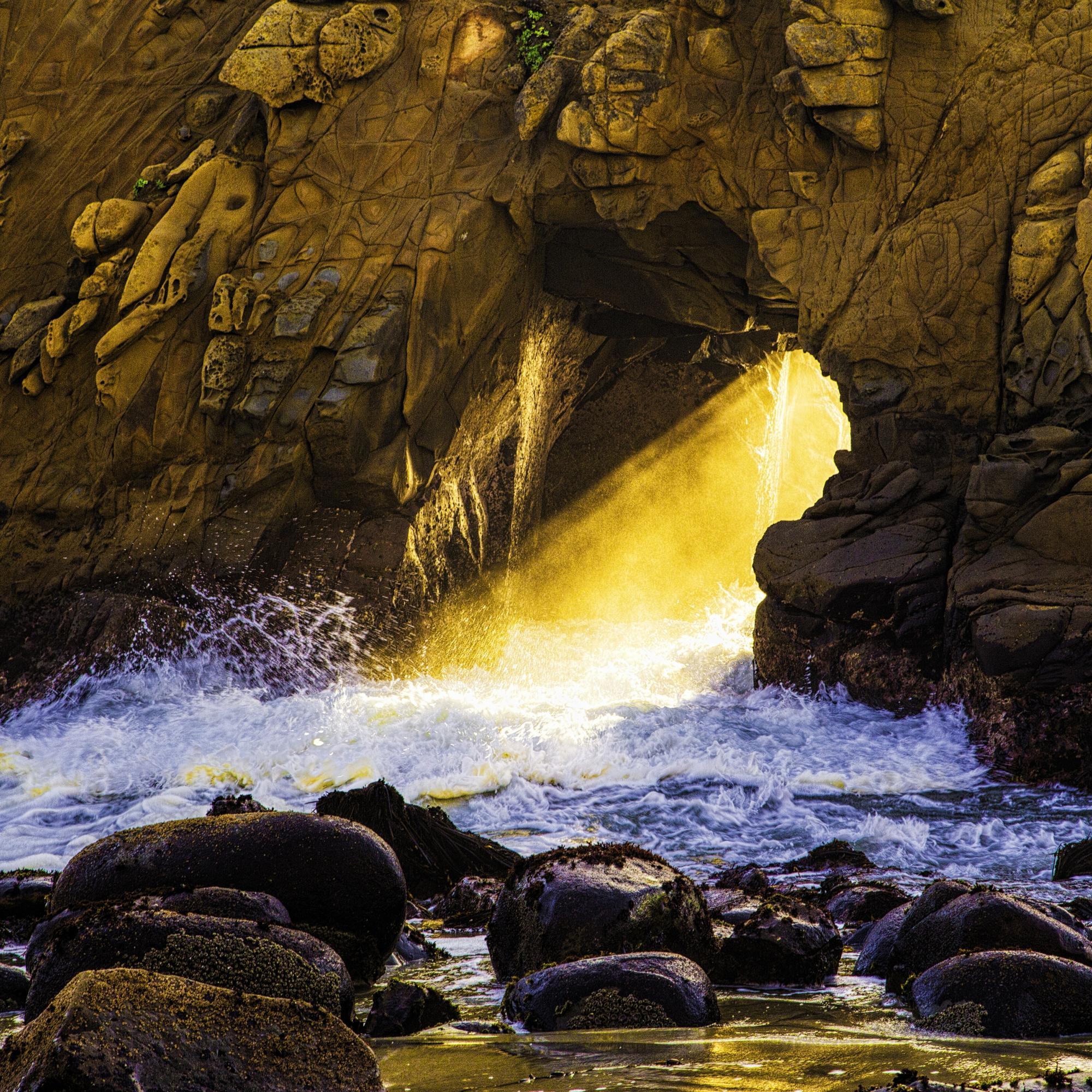 Dan Blackburn Sunset at Keyhole Arch Big Sur California_MGL1927