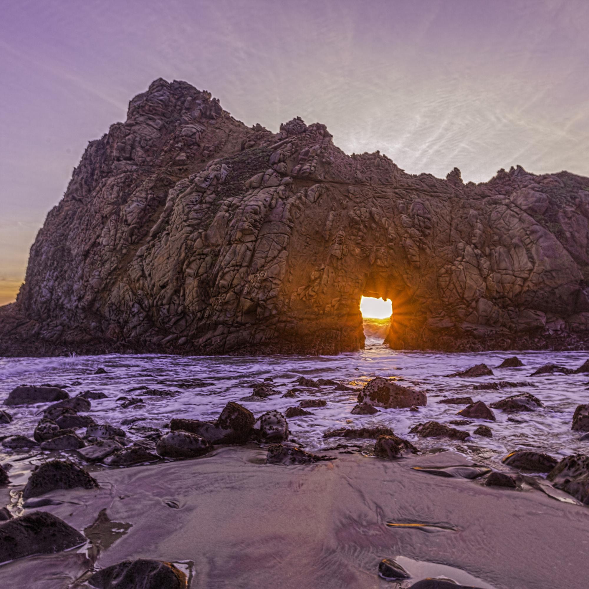 Dan Blackburn Sunset at Keyhole Arch Big Sur California_MGL1993