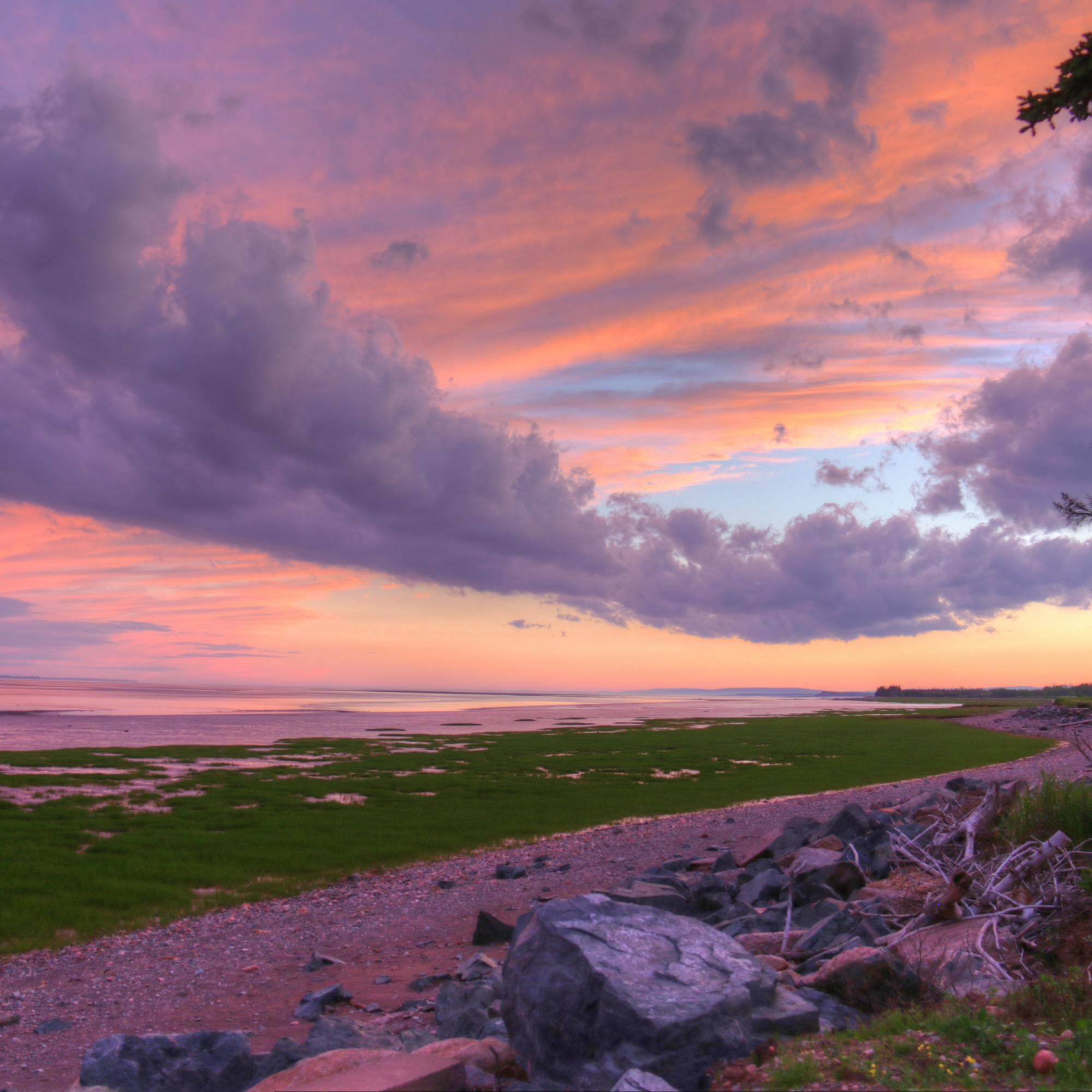 Sunset on the Bay of Fundy