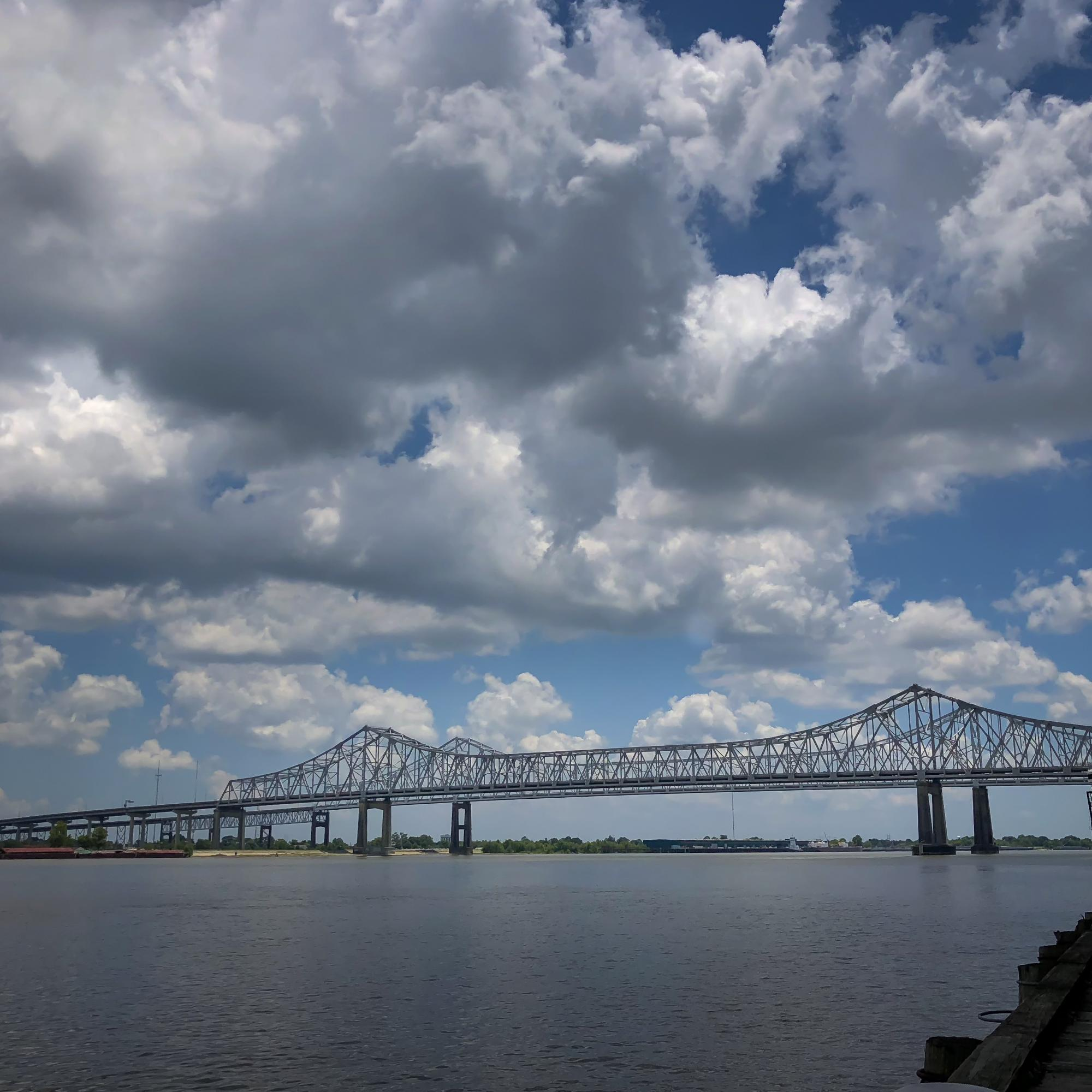 Algiers Bridge over the Mississippi River at New Orleans