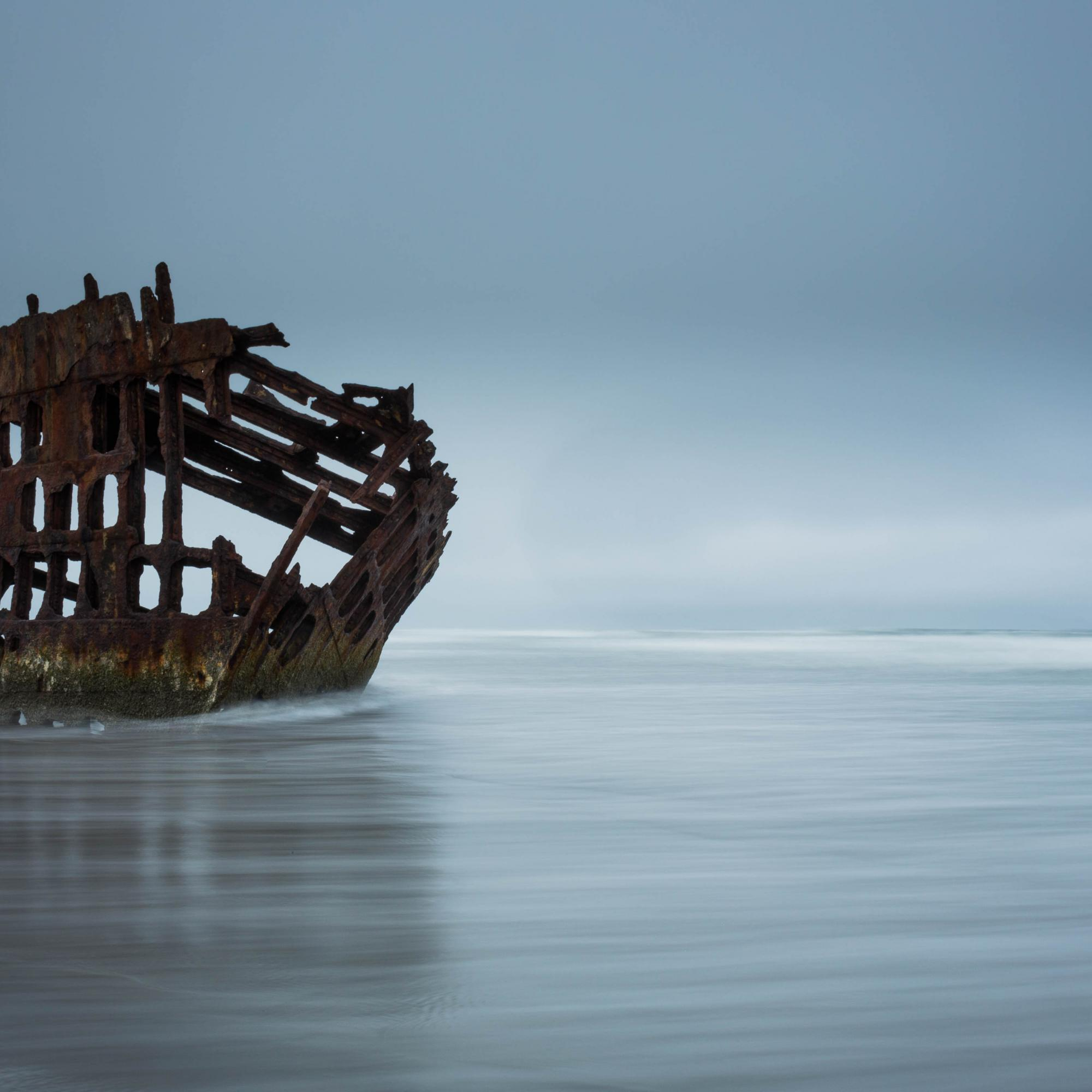 Peter Iredale on the Tide