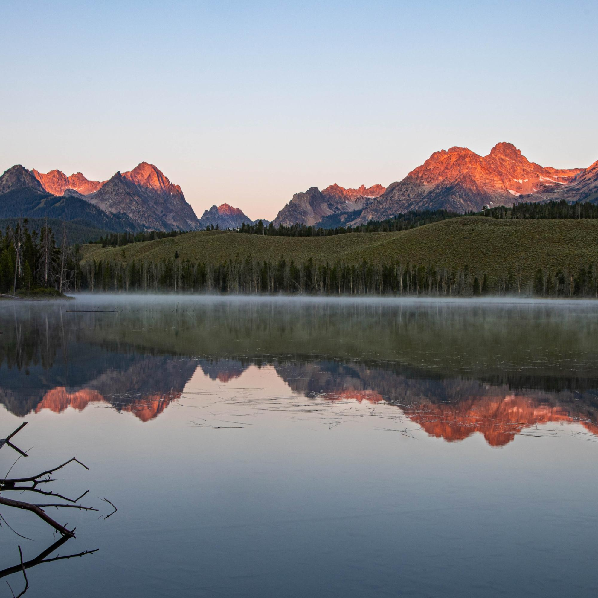 Sunrise at Little Redfish Lake