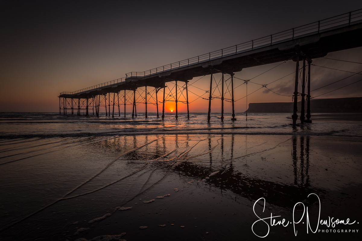 Dawn at Saltburn pier