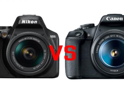 Nikon D3500 vs Canon T7 image