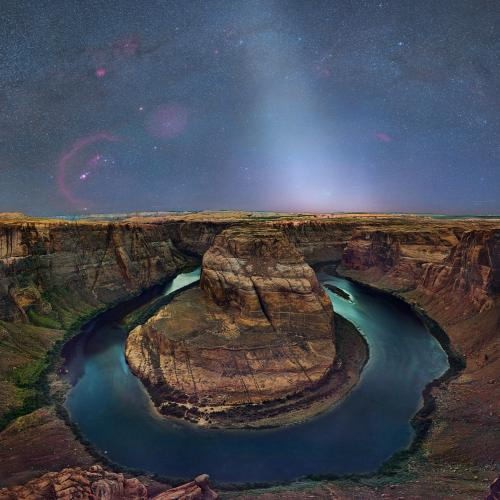 Horseshoe Bend with Rare Zodiacal Light by astrodave