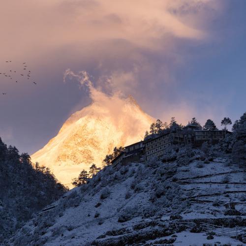 Alpen Glow by PJ van Schalkwyk