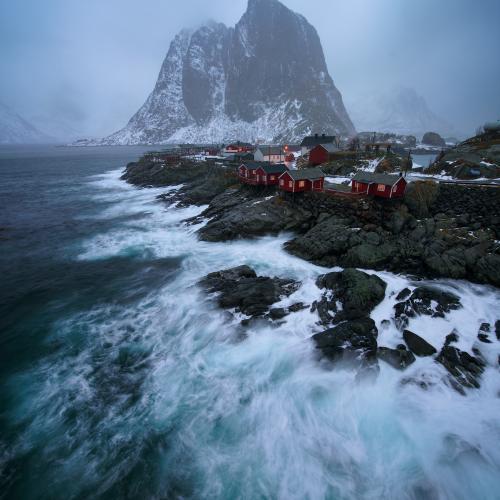 a storm breaks by Jens Klettenheimer