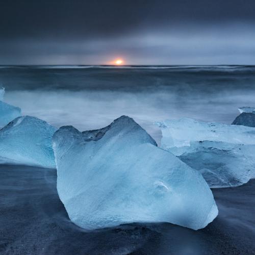 Ice glow by Jens Klettenheimer