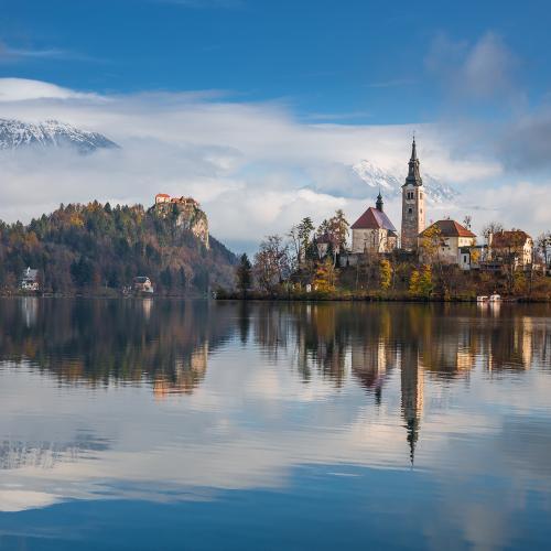 Bled lake by Paweł Uchorczak