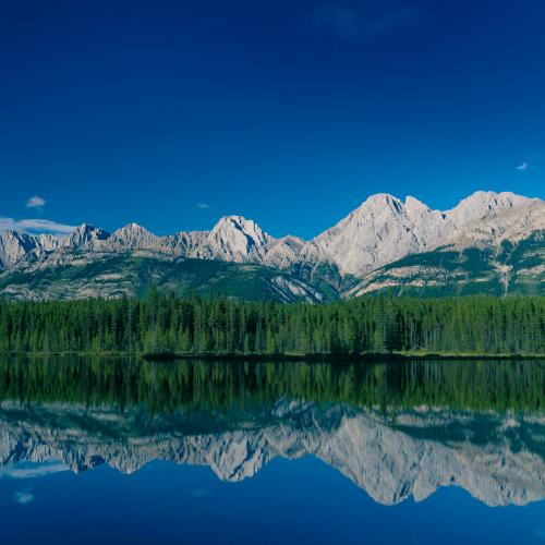 Mountains Reflecting by Kyle Hamilton