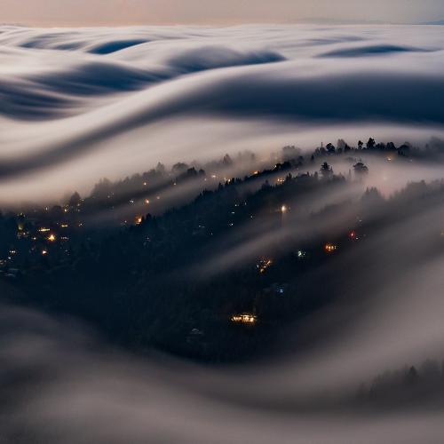Moonlit Fog Waves by Nicholas Steinberg