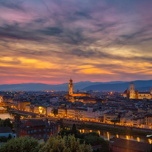 Sunset over Florence by Discovery Photo Tours