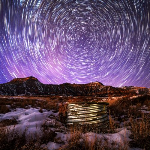 Star Trails of the Roan by Paul