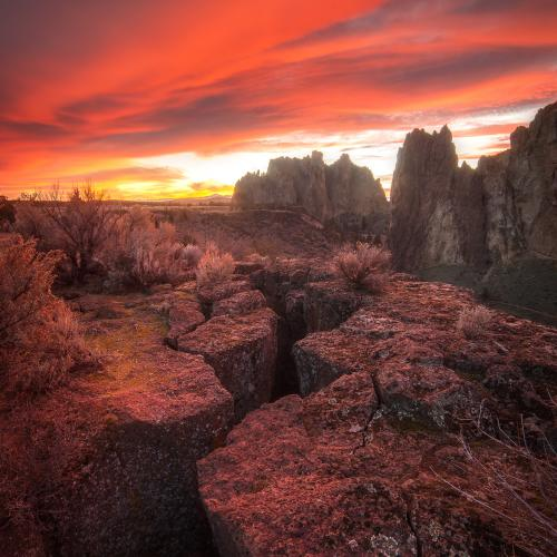 Smith Rock Sunset by Gary A Randall