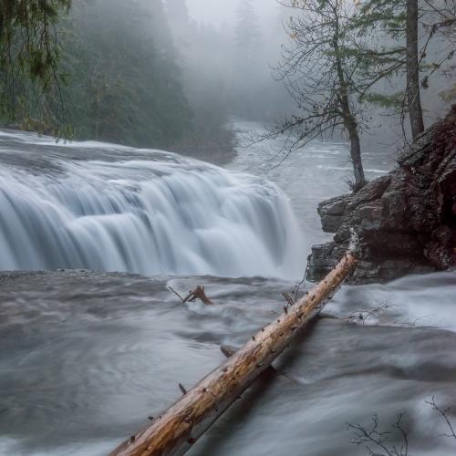 Lower Lewis River Falls Washington by Gary A Randall