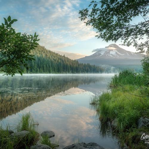 Trillium Lake Sunrise by Gary A Randall